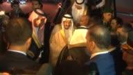 Saudi King Salman bin Abdul Aziz Al Saud arrives at the Antalya International Airport for the upcoming G20 Turkey Leaders Summit on November 12 2015...