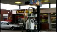 'Save' petrol station SCOTLAND Edinburgh EXT General views 'Save' petrol station / price indicator board / sign 'Save' / forecourt of 'Save' petrol...