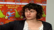 Save the Children charity album launch Luke Pritchard interview SOT I like gender bending / Crowd went nuts when we played Glasgow / 'Colours are...