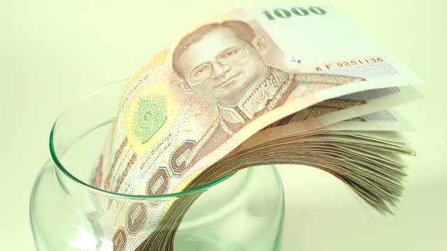 Savings Thai Money in a Jar
