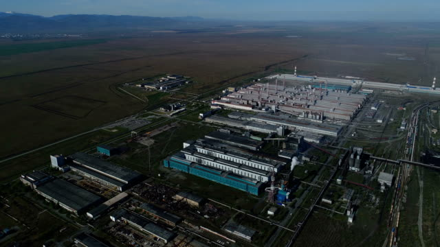Sayanogorsk aluminum factory. Rusal. The largest in Russia manufacturer of aluminum alloys.