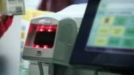 Scanning medicine in pharmacy