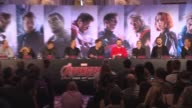 INTERVIEW Scarlett Johansson on playing a empowering women character at 'Avengers The Age of Ultron' Press Conference at Corinthia Hotel London on...