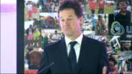 Nick Clegg speech Clegg speech SOT So I want to send out a clear signal today the Equality Act is a cornerstone of the UK's culture of fairness It...