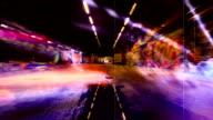 Spaventoso Grunge Graffiti Tunnel. HD