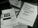 Scattered booklets pamphlets of 'Procedure for Community PostWar Planning Jobs' CU 'Jobs in Peacetime' CU 'Jobs Production at War's End by Albert Lea...