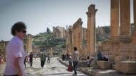 Scene from the ancient Roman city of Jerash outside Amman in Jordan Scenes of Amman on March 26 2013 in Amman Jordan