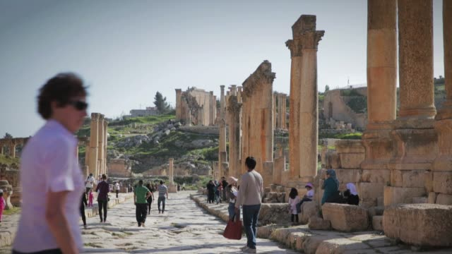 Scene from the ancient Roman city of Jerash outside Amman in Jordan Scenes of Amman on March 26 2013 in Amman Jordan