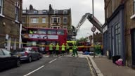 Scene of the Clapham bus crash and interview with London Fire Brigade's press liason officer Ben King on the immediate response to the bus crash the...