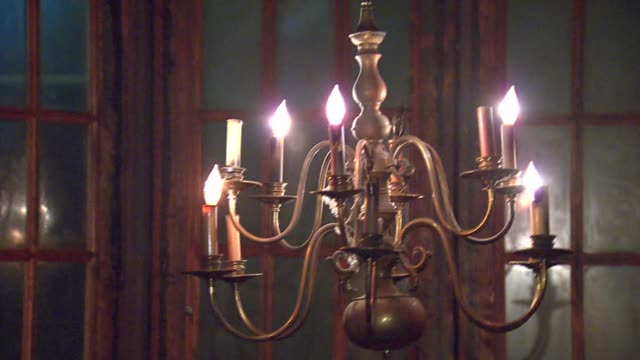 WGN Scenes from an interactive haunted house that tells the story of HH Holmes America's first serial killer Chandelier Swinging In Haunted House on...