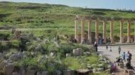 Scenes from the ancient Roman city of Jerash outside Amman in Jordan Scenes of Amman on March 26 2013 in Amman Jordan