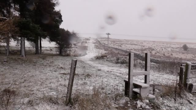 Scenes of snowfall captured in the area west of Sheffield as people across the country woke to icy conditions on Saturday Includes shots of Snake...