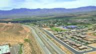 Scenic aerial shots of Utah, USA