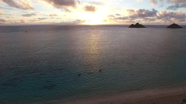 Scenic Hawaii sunset, aerial