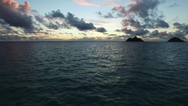 Scenic Pacific ocean sunset