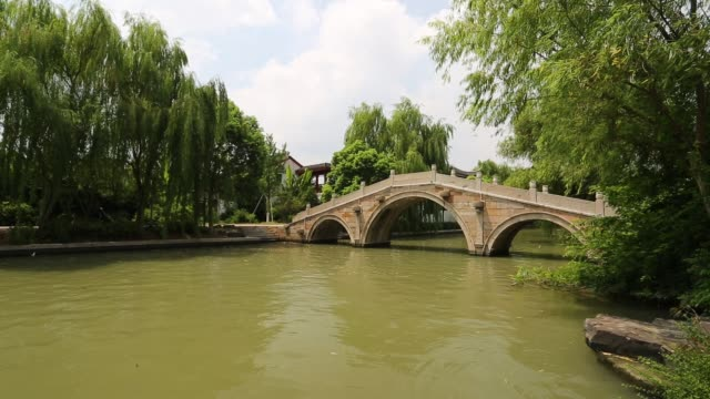 Scenic view of a stone bridge on the South Lake,Jiaxing,Zhejiang,China