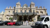 Scenics of Monaco showing off the city and various different vistas on May 19 2015 Shots a view of The Casino de MonteCarlo through a round mirror...