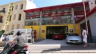 Scenics of Monaco showing off the city and various different vistas on May 19 2015 Shots wide aerial view over docks x 2 wide shot of carwash as car...