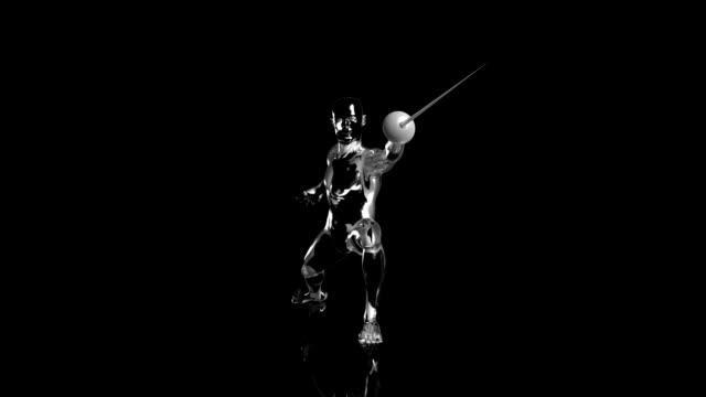 3D scherma sword man