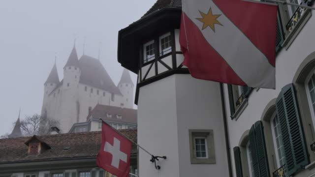 Schloss Thun and Rathausplatz, Thun, Jungfrau region, Bernese Oberland, Swiss Alps, Switzerland, Europe