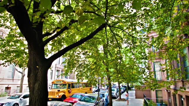 School bus on a New York street