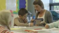 School children in classroom