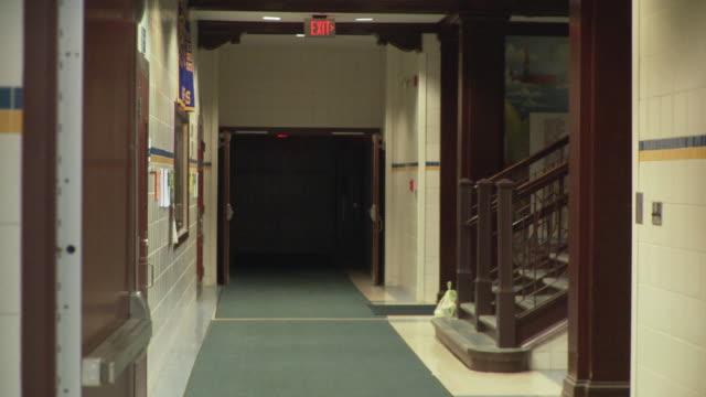 WS School corridor, Cazenovia, New York, USA