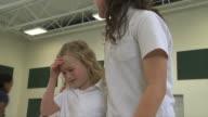 school girl gets hurt