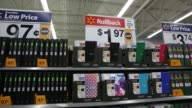 School supplies are displayed for sale at a WalMart Stores Inc location in the Porter Ranch neighborhood of Los Angeles California US on Thursday...