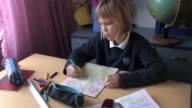 Schoolgirl Sketching
