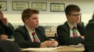 Schools to receive extra 13 billion pounds over the next two years T08051733 / 852017 Crawley St Wilfrid's Catholic School INT Various of secondary...