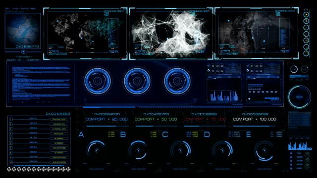 Sci FI HUD hologram contol interface