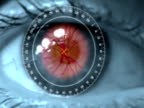 Science-Fiction-Auge Netzhaut-Scan
