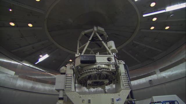 TU Scientist observing rotation of indoor telescope / United States