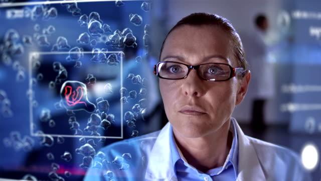 MS Scientist Using A Futuristic Equipment