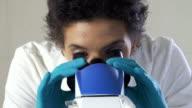 Scientist working at laboratory