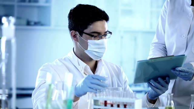 Scientists working at the laboratory.