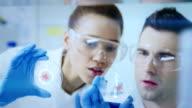 Wissenschaftler Arbeiten in einem research laboratory