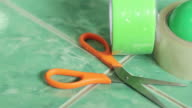 Scissors and Adhesive tape tools