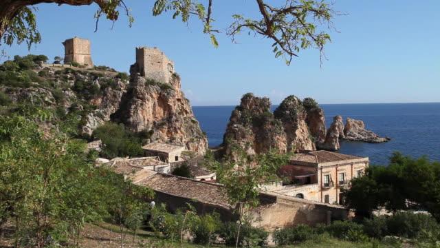 Scopello (San Vito lo Capo), view of the rocks in the sea
