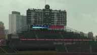 WGN Score Board At Wrigley Field at Wrigley Field on April 08 2013 in Chicago Illinois