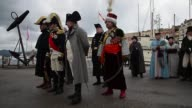 Scores of history buffs in full costume gather on the Mediterranean island of Elba to re enact the start of Napoleons great escape two centuries ago