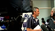 Scotland and New Zealand training/ Frank Hadden intv SCOTLAND Edinburgh INT Scotland Rugby Union Head Coach Frank Hadden talking to pess