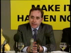 Scotland CMS SNP Ldr Alex Salmond and others at pkf MS Ditto CMS Alex Salmond pkf SOF Scottish people have opportunity at district elections to show...