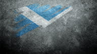 Scotland Flag Painted on Wall. Vote.