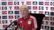 Scotland manager Gordon Strachan speaks ahead of match against Lithuania includes interview with Strachan and training footage