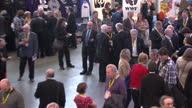Scotland Nicola Sturgeon is a new SNP leader Showing interior shots of Nicola Sturgeon MSP the new SNP leader with deputy Stewart Hosie celebrating...