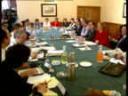 SNP Edinburgh MS SNP members including Sillars and Salmond sitting as all laughing TGV Meeting round table CLA Salmond LR to BV as greets man SOF MS...