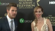Scott Clifton and Nicole Lampson at the 2014 Daytime Emmy Awards at The Beverly Hilton Hotel on June 22 2014 in Beverly Hills California