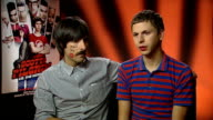 'Scott Pilgrim vs the World' interviews Interview with Schwartzman and Cera SOT On playing video games On video games On possibility of an Arrested...